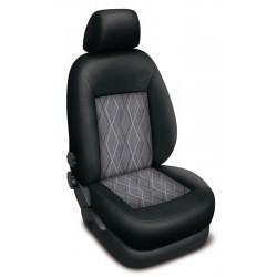 Autopotahy na Škoda Fabia I., dělená zadní sed., 4 opěrky hlavy, Authentic Premium Matrix