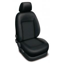 Autopotahy na Škoda Fabia I., dělená zadní sed., 4 opěrky hlavy, Authentic Premium vlnky černé