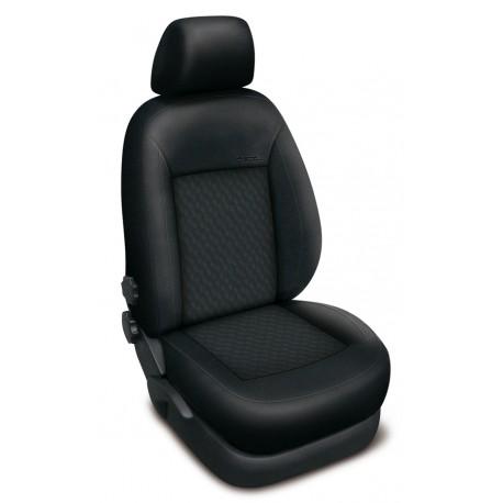 Autopotahy na Škoda Fabia III. kombi, dělené zadní sedadlo i opěradlo, Authentic Premium vlnky černé 2190
