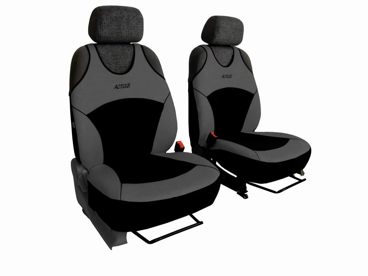 Univerzální autopotahy na přední sedadla Active Sport, barva šedá