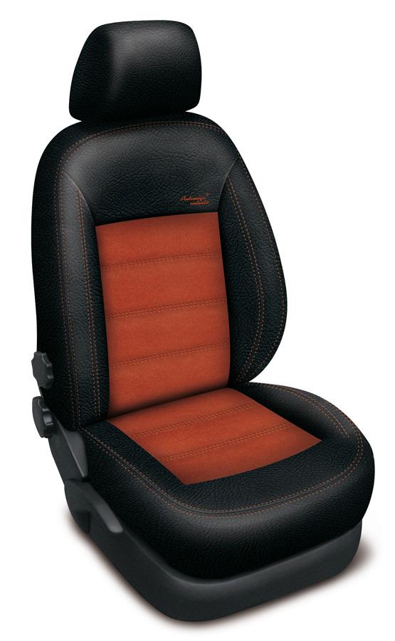 Autopotahy na míru Authentic Velvet barva černá/oranžová